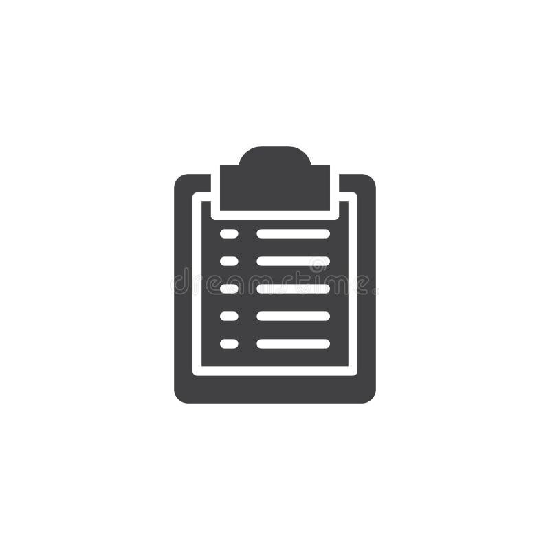 Icono del vector de la lista de la huésped libre illustration