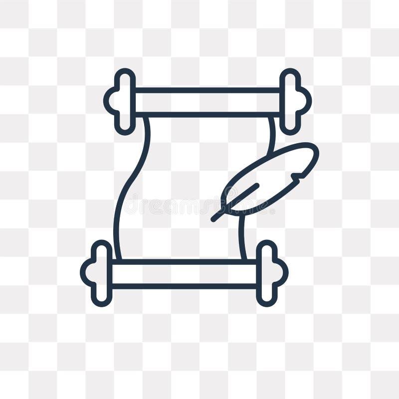Icono del vector de la literatura aislado en el fondo transparente, linea stock de ilustración