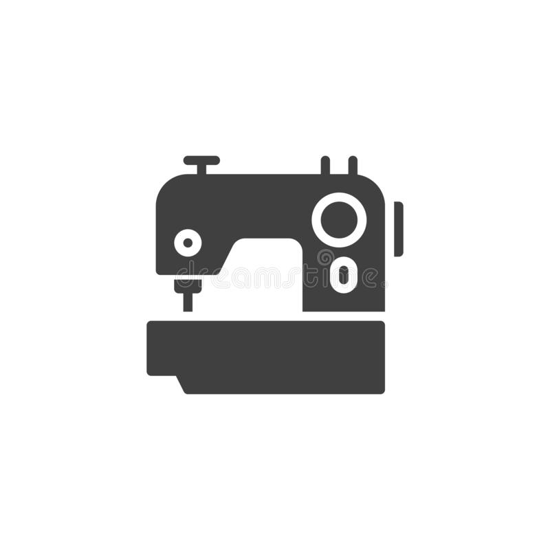 Icono del vector de la m?quina de coser stock de ilustración