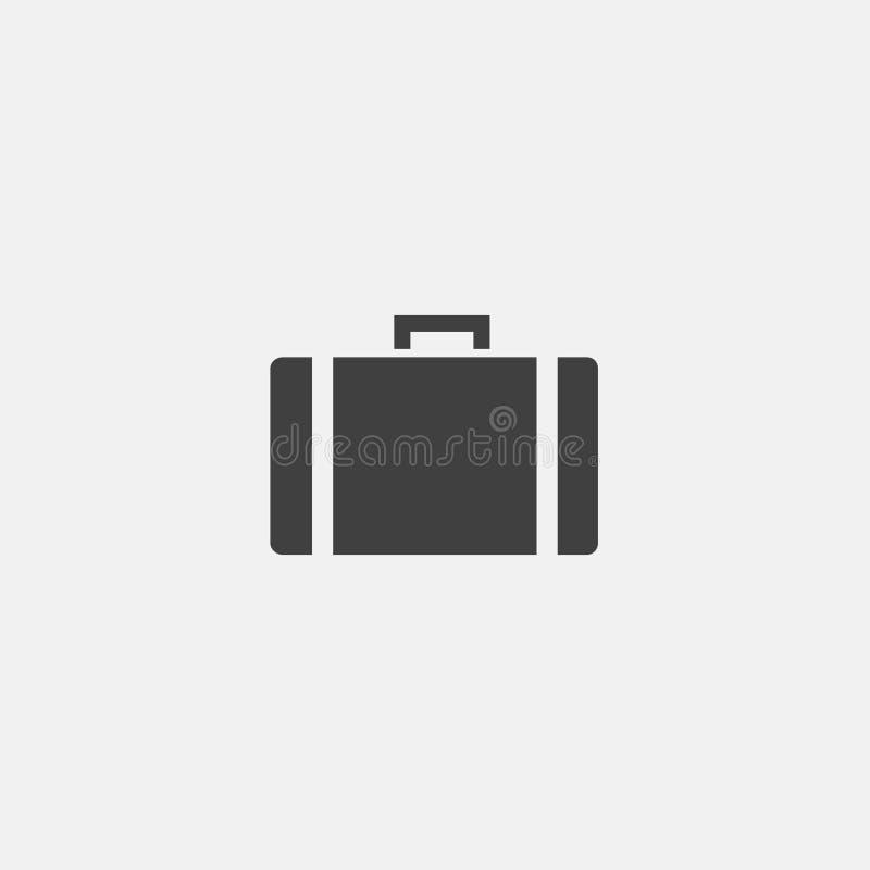 Icono del vector de la maleta ilustración del vector