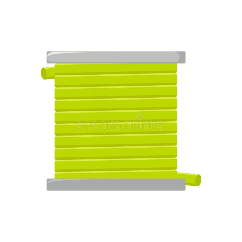 Icono del vector de la manguera aislado en el fondo blanco stock de ilustración