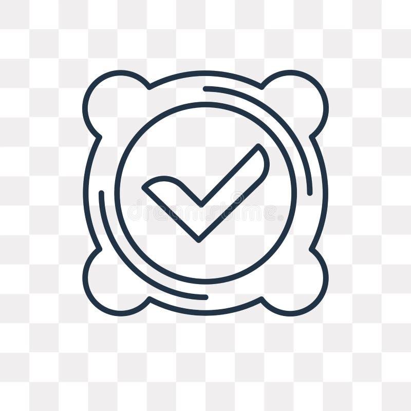 Icono del vector de la marca de verificación aislado en el fondo transparente, linea stock de ilustración