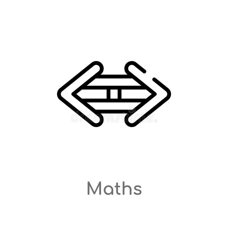 icono del vector de la matemáticas del esquema línea simple negra aislada ejemplo del elemento del concepto de las muestras icono stock de ilustración