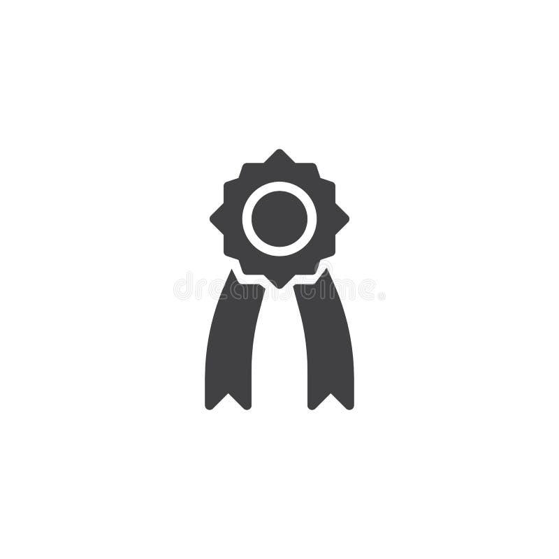 Icono del vector de la medalla stock de ilustración