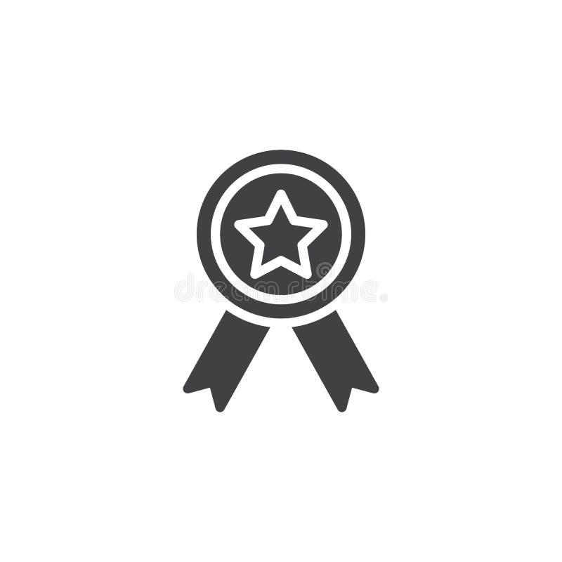 Icono del vector de la medalla de la calidad ilustración del vector
