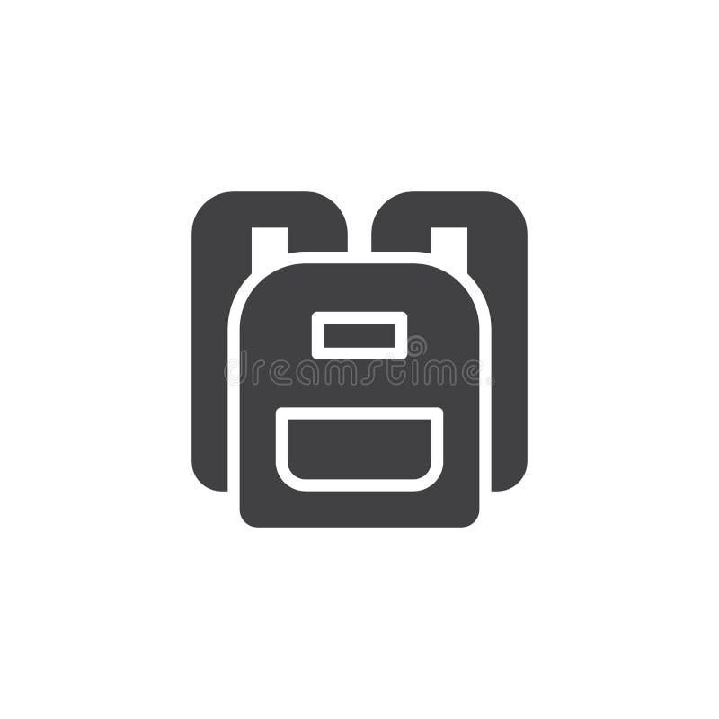 Icono del vector de la mochila ilustración del vector