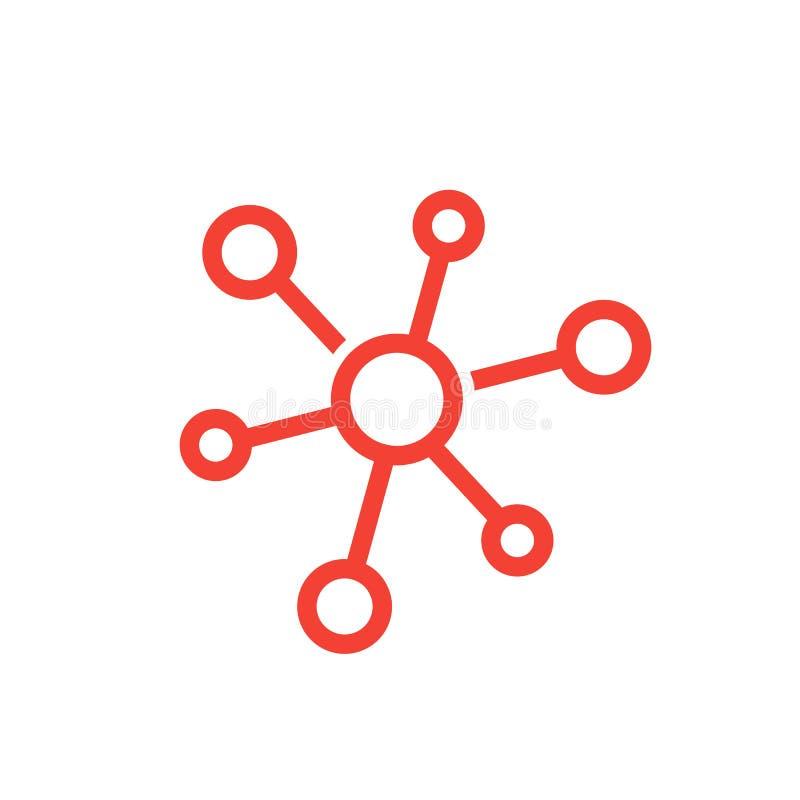 Icono del vector de la molécula ilustración del vector
