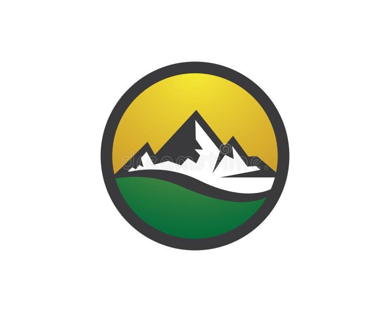 Icono del vector de la montaña fotografía de archivo