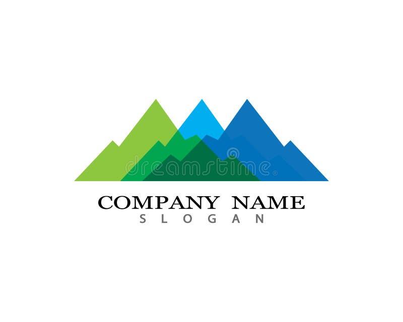 Icono del vector de la montaña foto de archivo libre de regalías