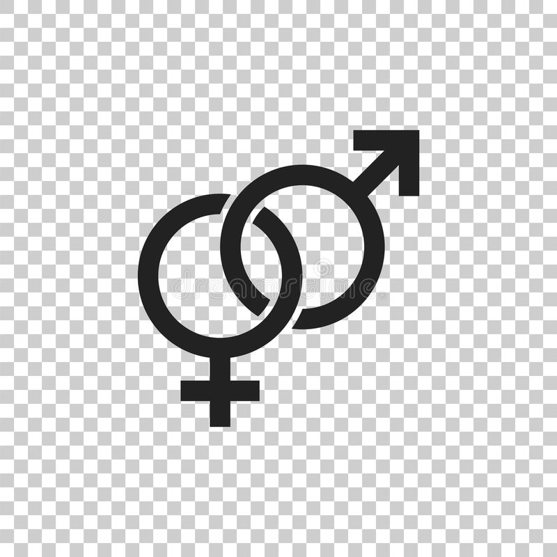Icono del vector de la muestra del género Hombres e icono del concepto de los woomen libre illustration