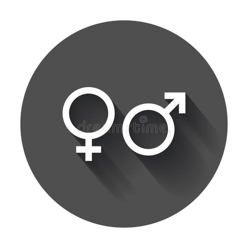Icono del vector de la muestra del género Hombres e icono del concepto de los woomen con s largo libre illustration