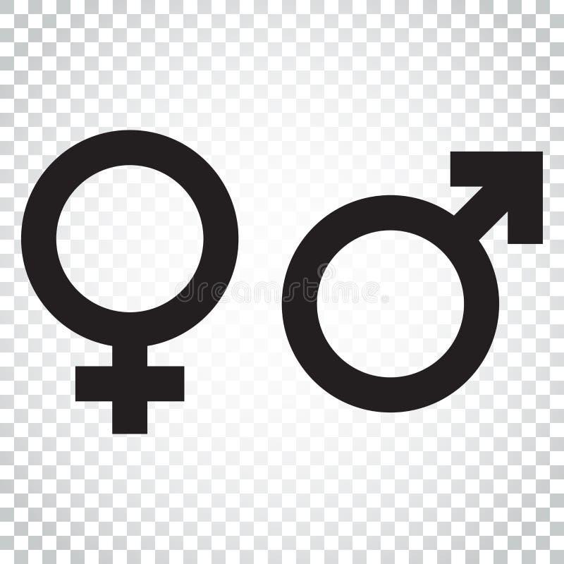Icono del vector de la muestra del género Icono del concepto de los hombres y de las mujeres Busi simple ilustración del vector