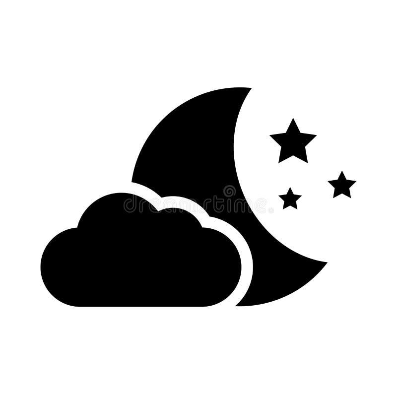 Icono del vector de la noche libre illustration