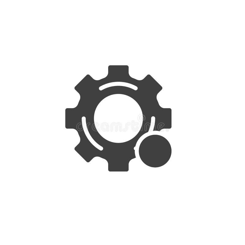 Icono del vector de la notificación de los ajustes stock de ilustración