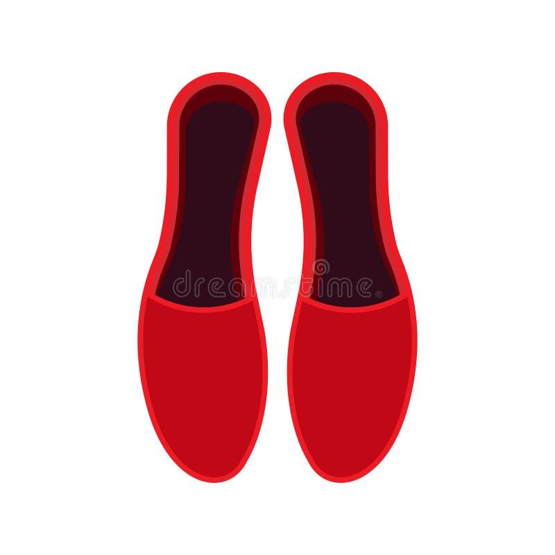 Icono del vector de la opinión superior de zapatos de la mujer Estilo femenino del dise?o del pie de la bota de la belleza de la  ilustración del vector