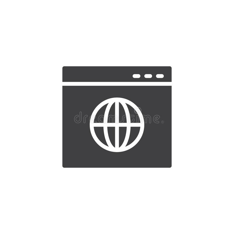 Icono del vector de la página web del navegador de Internet libre illustration