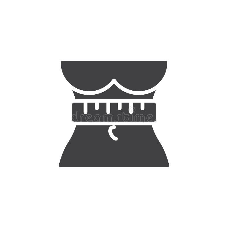 Icono del vector de la pérdida de peso ilustración del vector