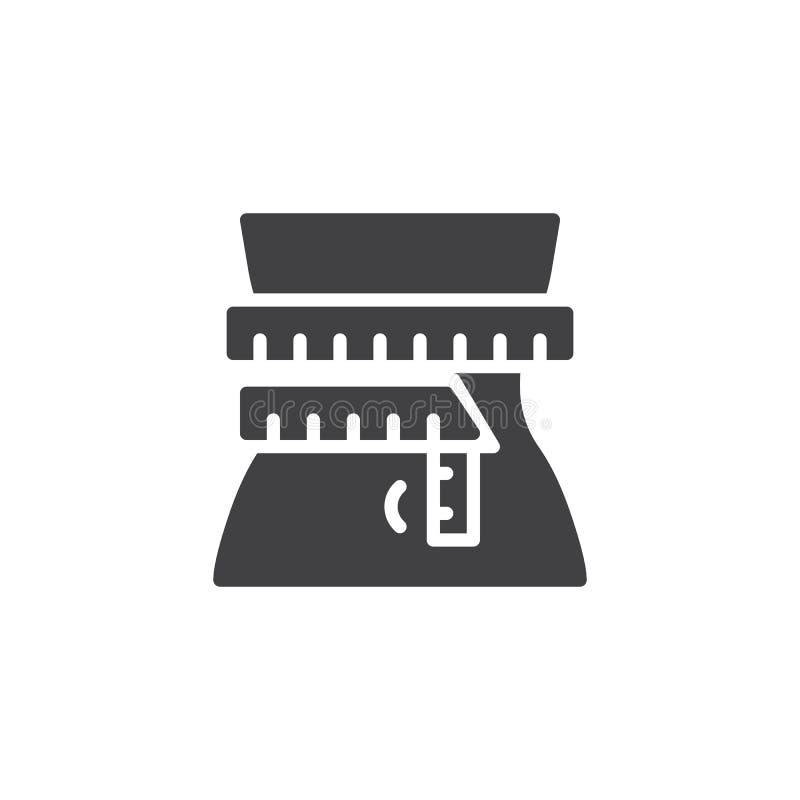 Icono del vector de la p?rdida de peso stock de ilustración