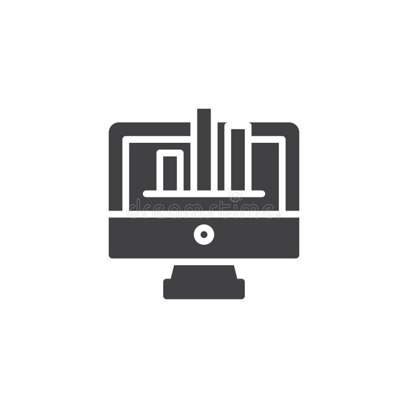 Icono del vector de la pantalla del diagrama ilustración del vector