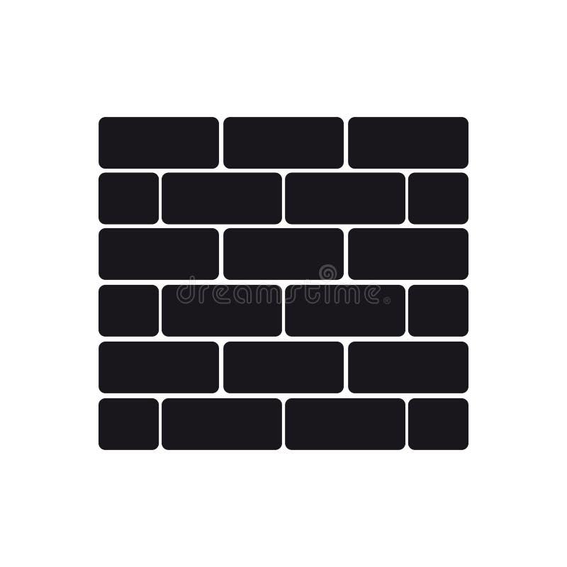 Icono del vector de la pared de ladrillo - aislado en blanco stock de ilustración