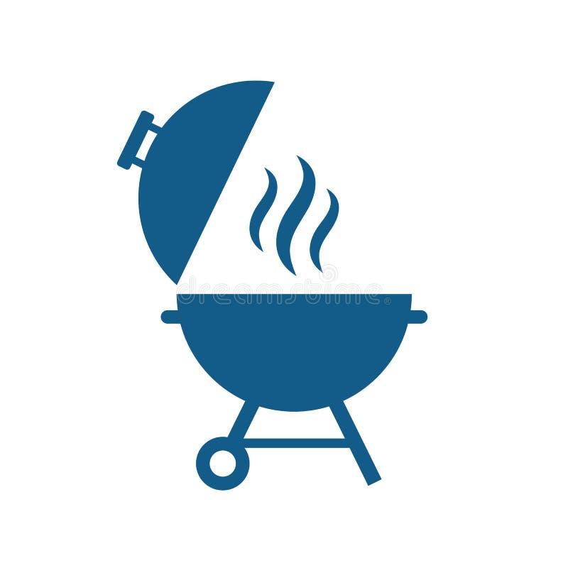 Icono del vector de la parrilla de la barbacoa ilustración del vector