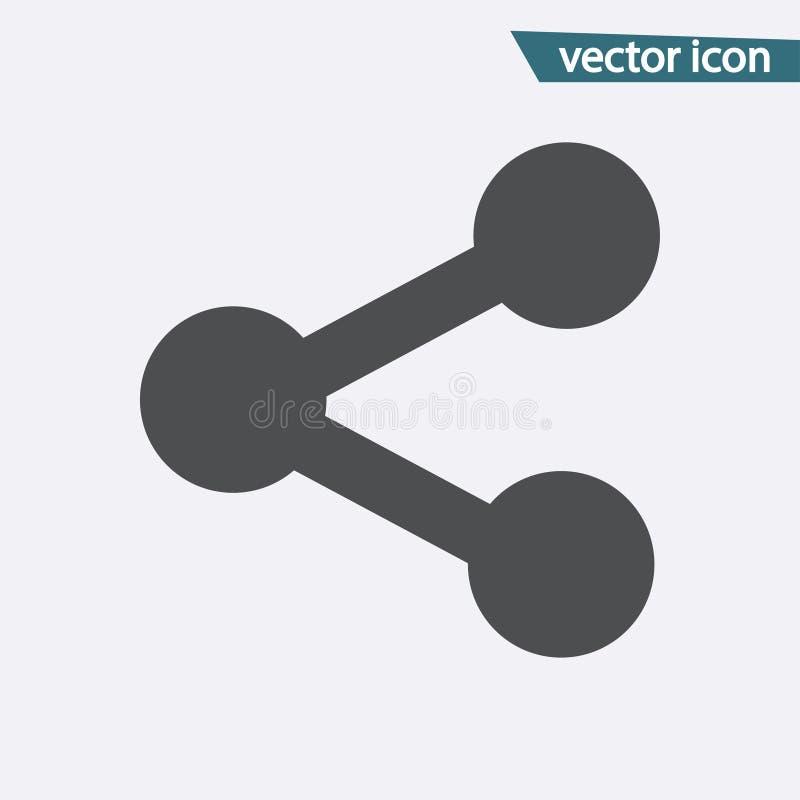 Icono del vector de la parte Símbolo plano aislado en el fondo blanco Concepto de moda de Internet Muestra moderna FO stock de ilustración