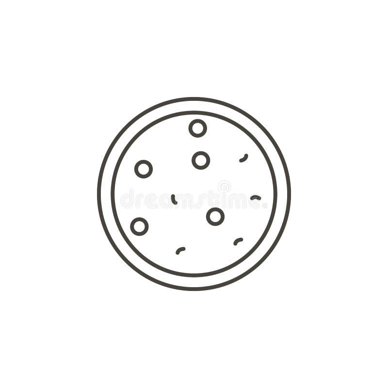 Icono del vector de la pizza Ejemplo simple del elemento del concepto de la comida Icono del vector de la pizza Ejemplo del vecto libre illustration