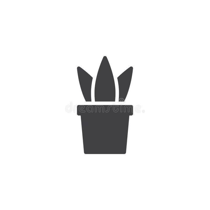 Icono del vector de la planta de la oficina stock de ilustración