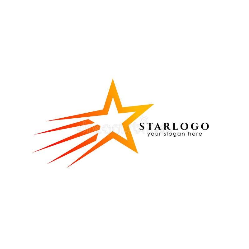 Icono del vector de la plantilla del diseño del logotipo de la estrella que vuela libre illustration
