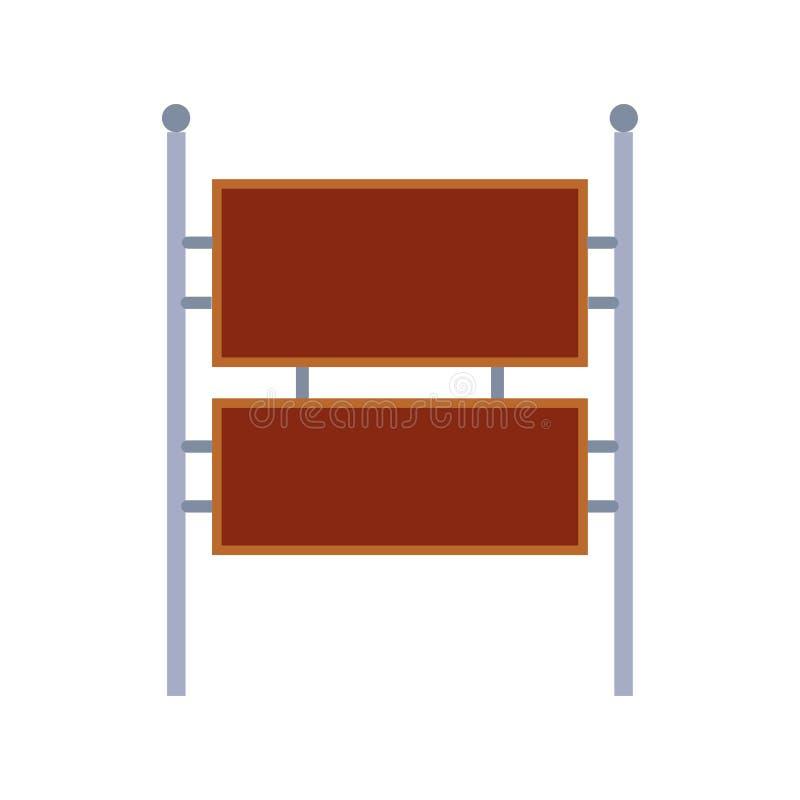 Icono del vector de la plantilla del espacio de información de la muestra del tablón de anuncios El pasador del marrón de la cart libre illustration
