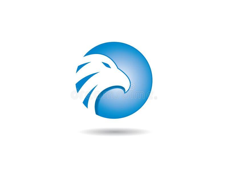 Icono del vector de la plantilla del logotipo de Eagle ilustración del vector