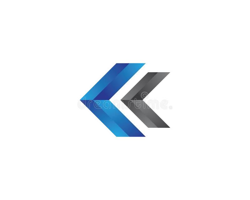 Icono del vector de la plantilla del logotipo de la flecha ilustración del vector