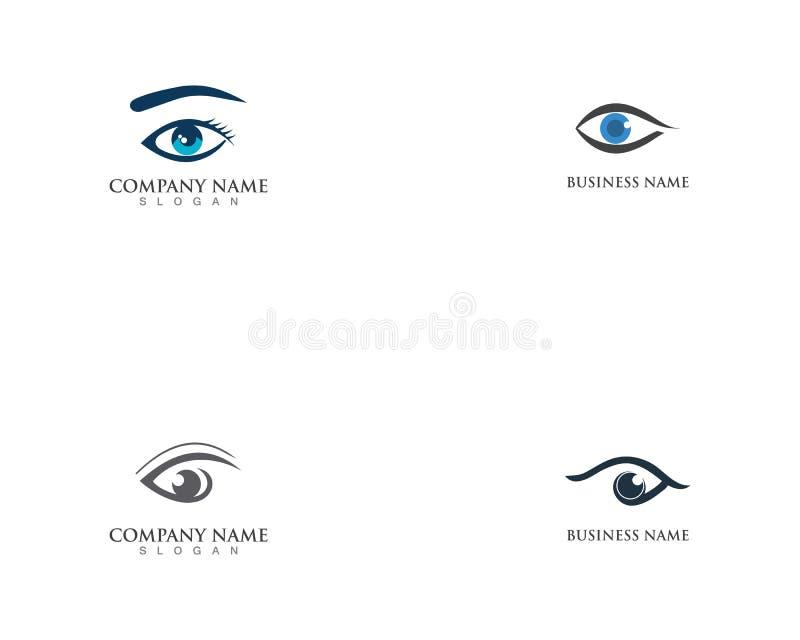 Icono del vector de la plantilla del símbolo del logotipo de la salud del cuidado del ojo libre illustration