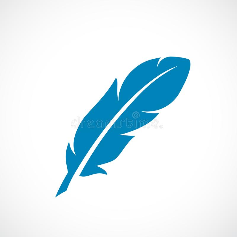 Icono del vector de la pluma ilustración del vector