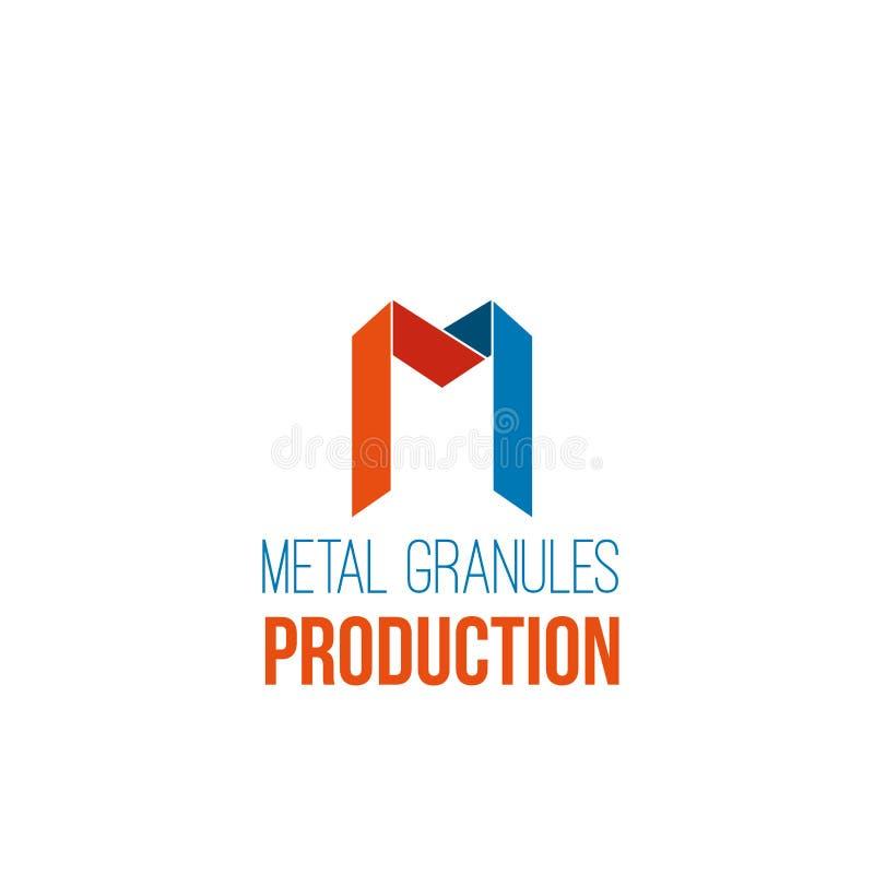 Icono del vector de la producción del metal ilustración del vector