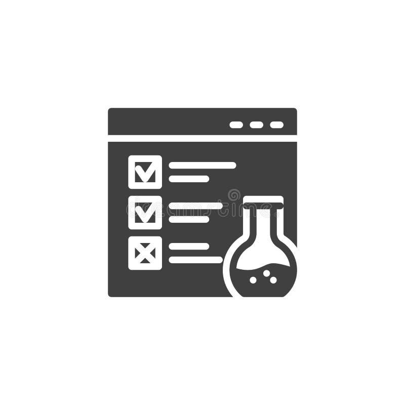 Icono del vector de la prueba funcional de la página web stock de ilustración