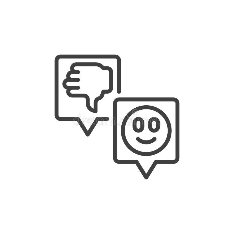 Icono del vector de la reacción de clientes stock de ilustración