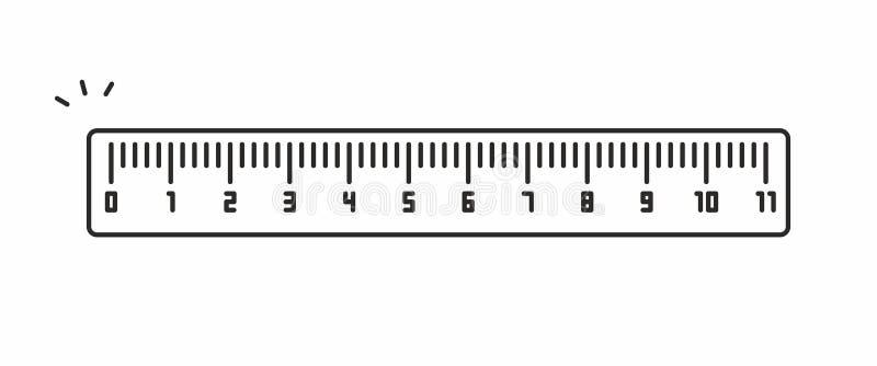 Icono del vector de la regla foto de archivo libre de regalías
