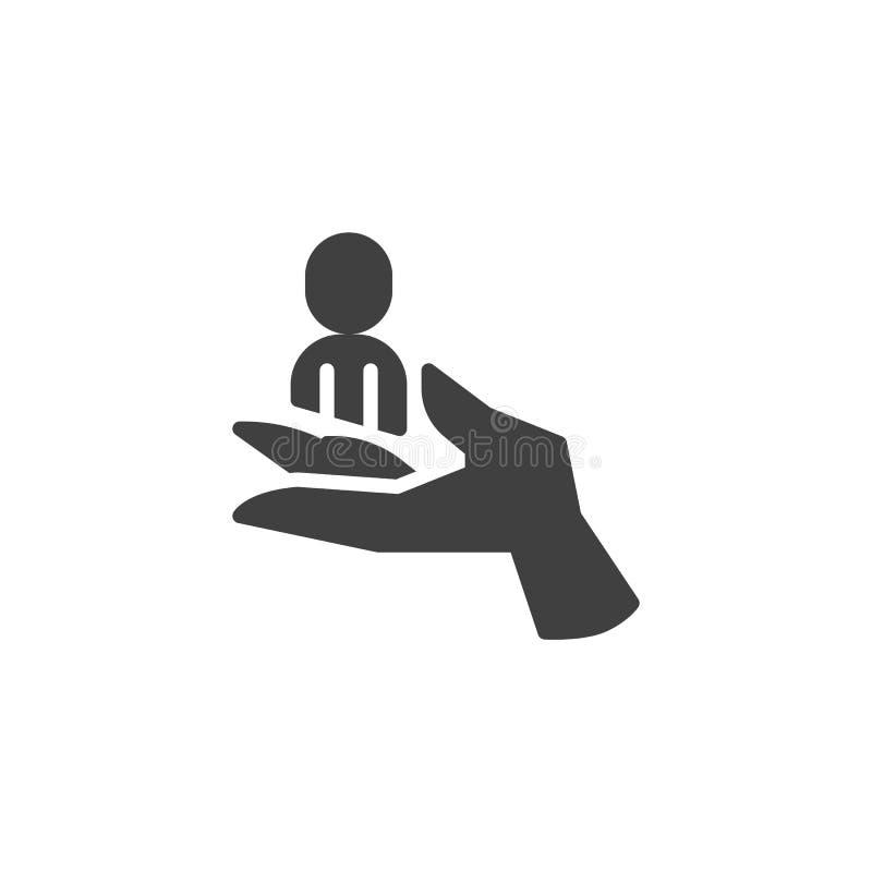Icono del vector de la retenci?n del cliente stock de ilustración