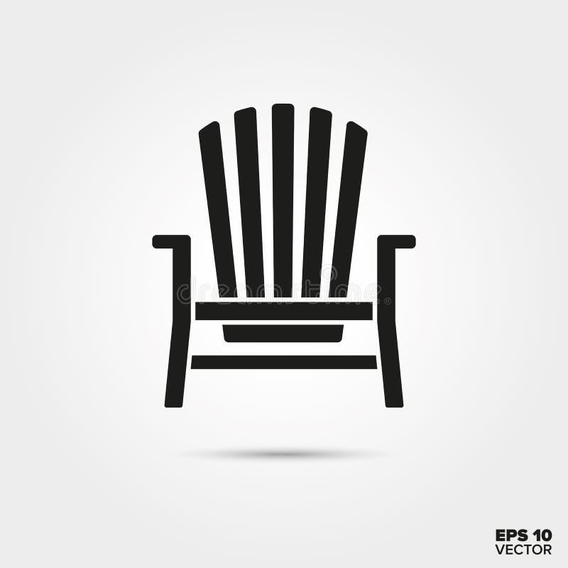 Icono del vector de la silla de Adirondack libre illustration