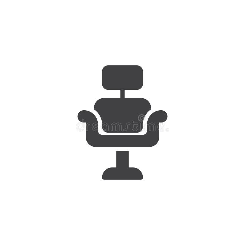Icono del vector de la silla de peluquero libre illustration