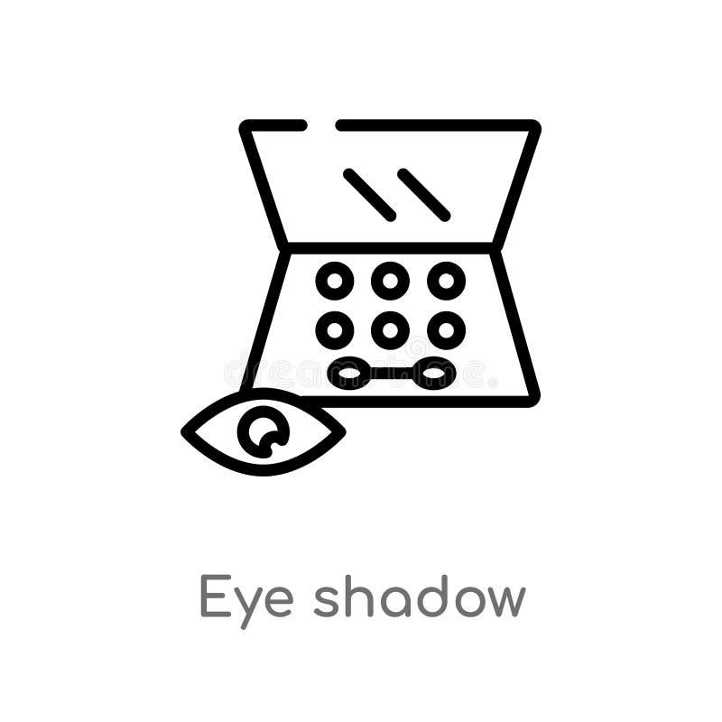 icono del vector de la sombra de ojos del esquema línea simple negra aislada ejemplo del elemento del concepto de la belleza ojo  ilustración del vector