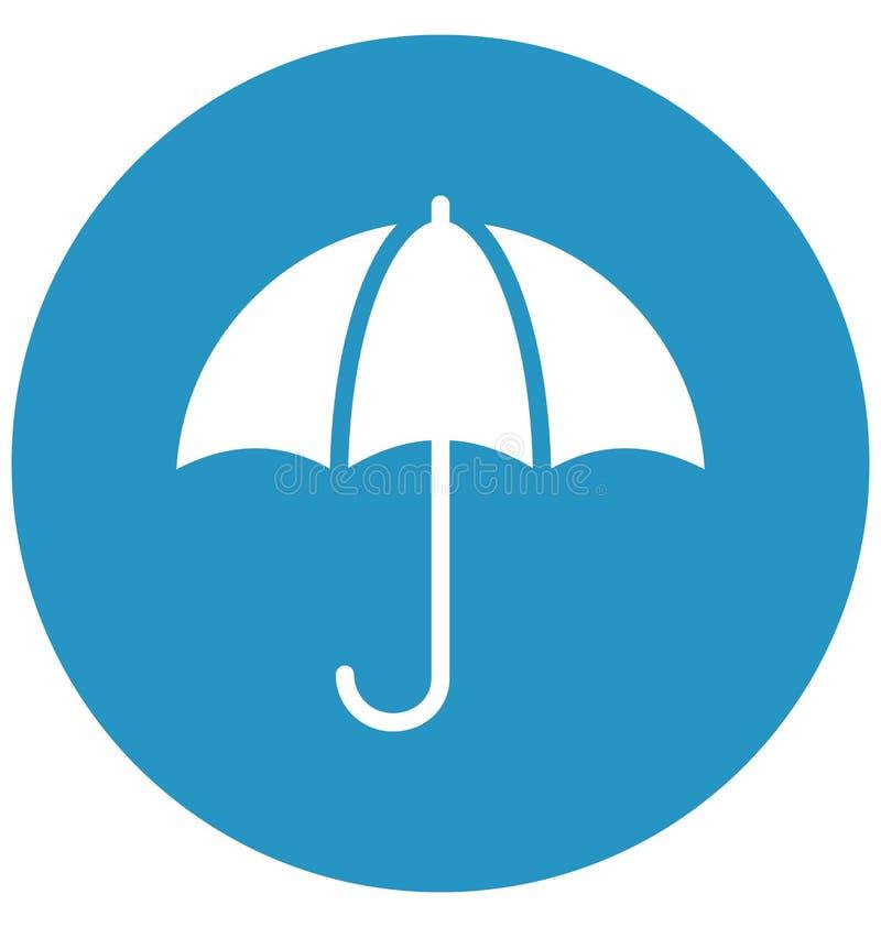 Icono del vector de la sombrilla que puede modificado fácilmente o corregir stock de ilustración