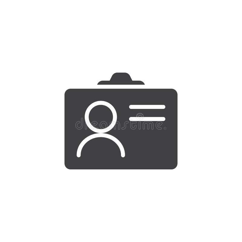 Icono del vector de la tarjeta de la identificación libre illustration