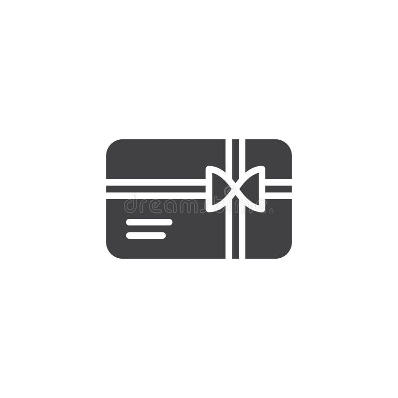 Icono del vector de la tarjeta de regalo que hace compras libre illustration