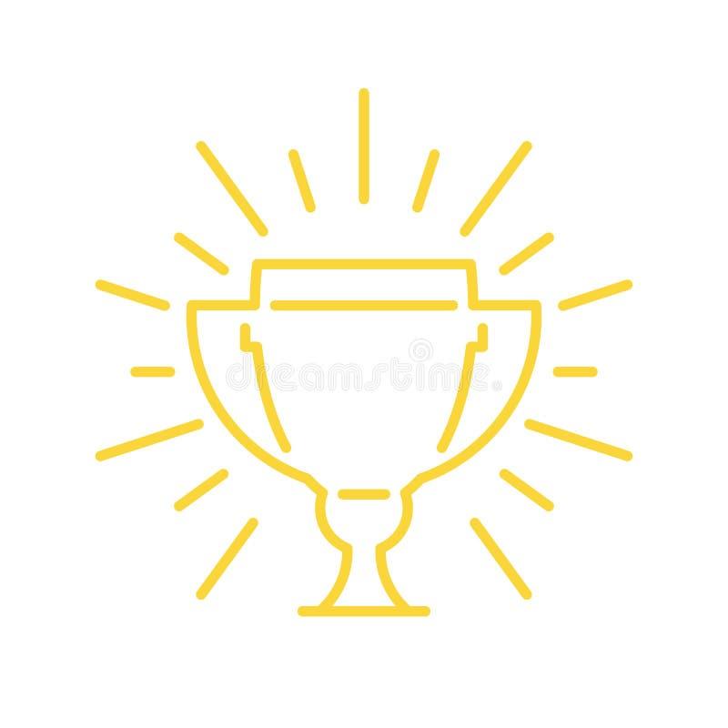 Icono del vector de la taza del ganador ilustración del vector