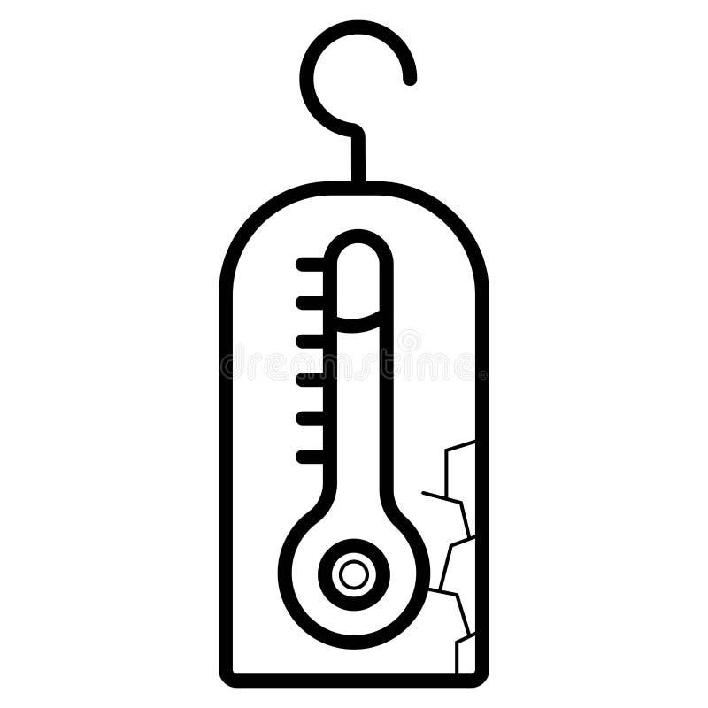 Icono del vector de la temperatura libre illustration