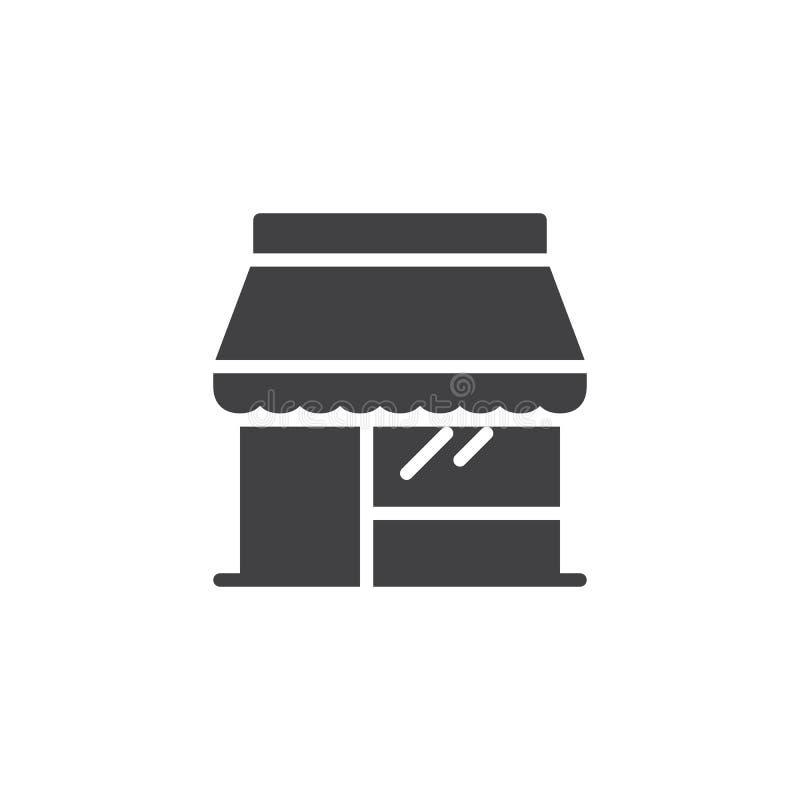Icono del vector de la tienda de la tienda stock de ilustración