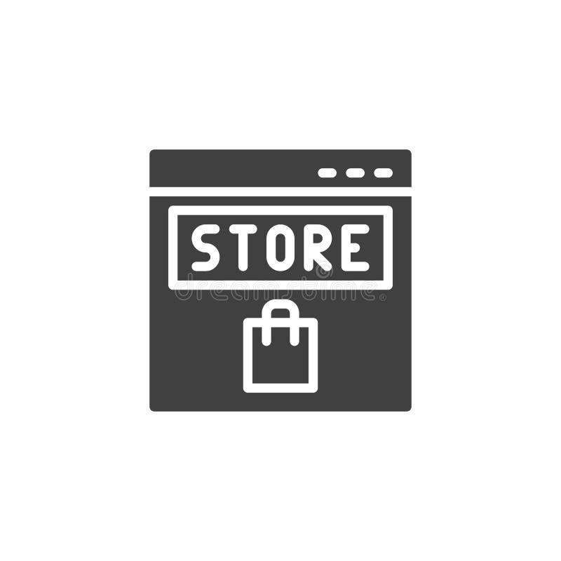 Icono del vector de la tienda en l?nea libre illustration