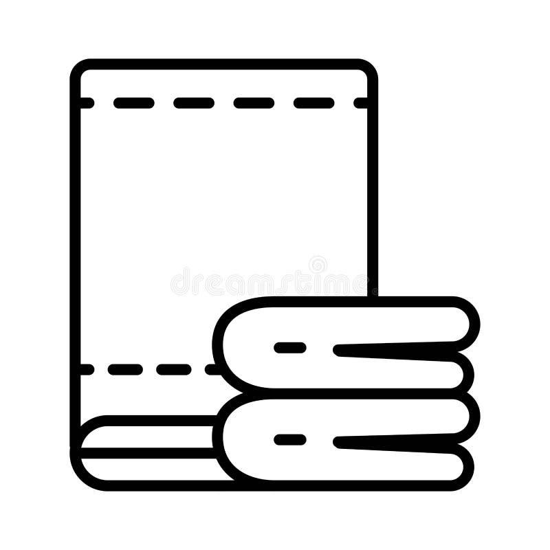 Icono del vector de la toalla stock de ilustración